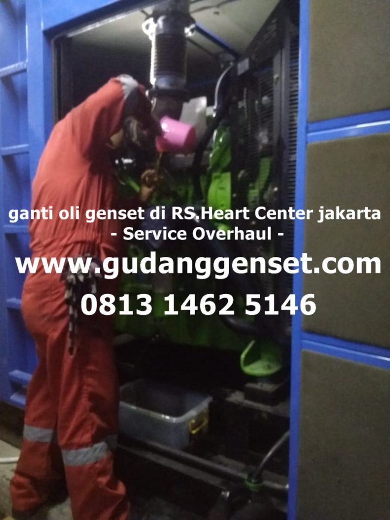 ganti oli di RS.Heart Center jakarta - service overhaul -