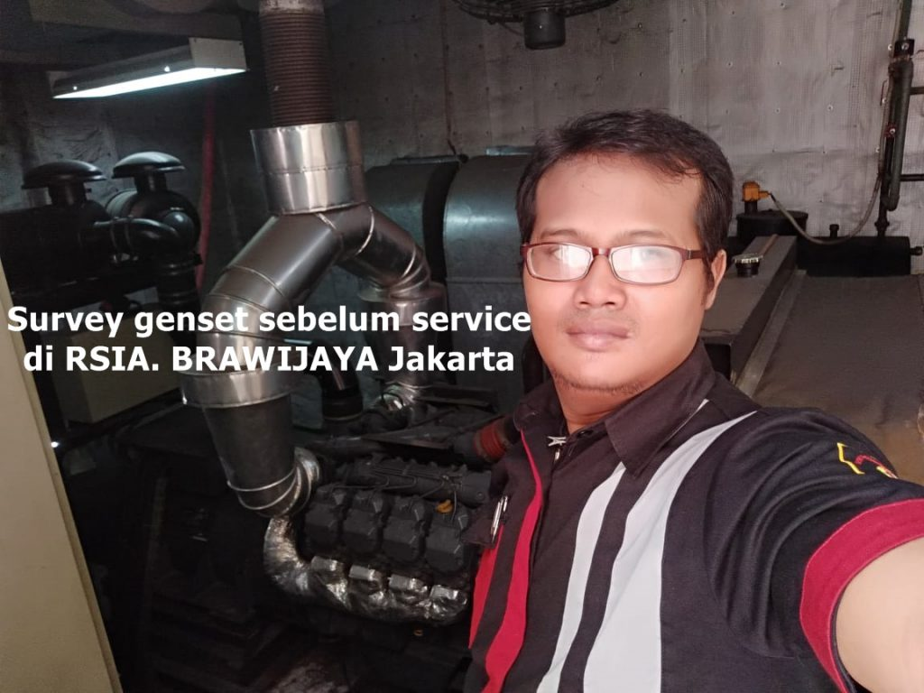 survey genset sebelum service di RSIA. Brawijaya Jakarta28 Agustus 2018