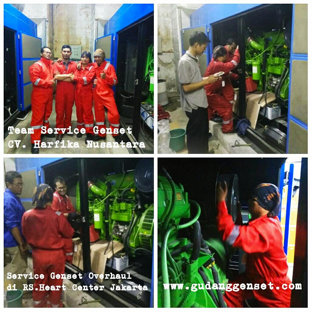 Service Genset Overhaul di RS. Heart Center Jakarta - www.gudanggenset - CV. Harfika Nusantara