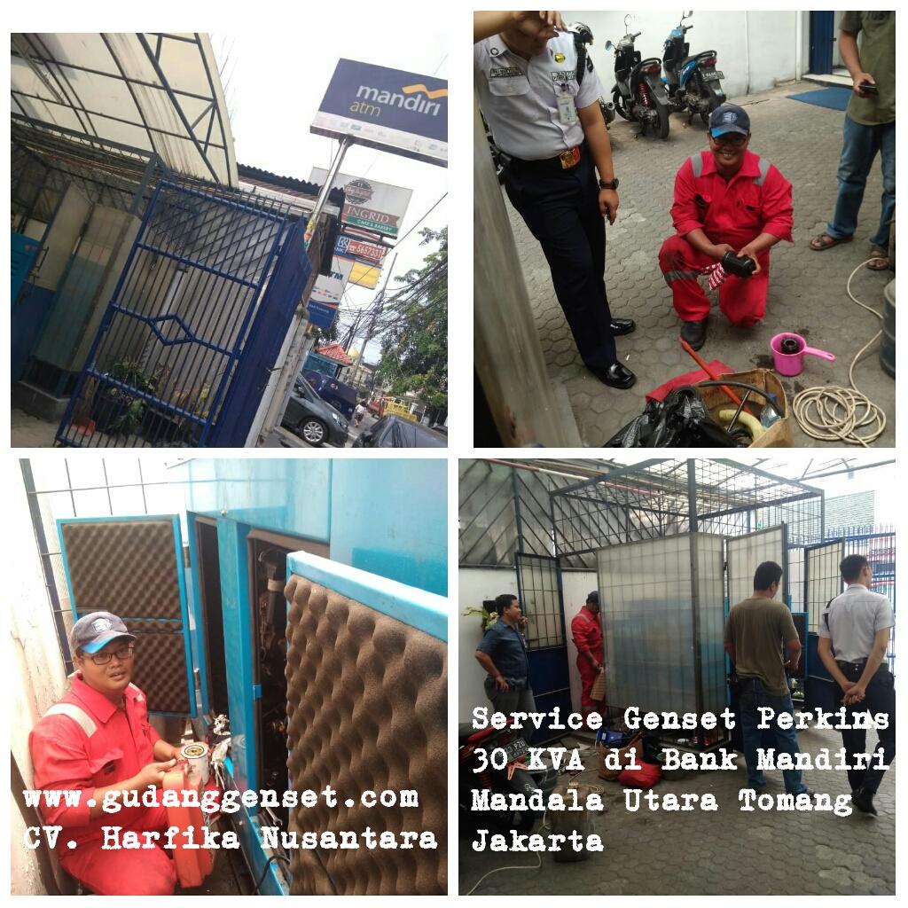 Service Genset Perkins 30 KVA di Bank Mandiri Mandala Utara-Tomang-Jakarta