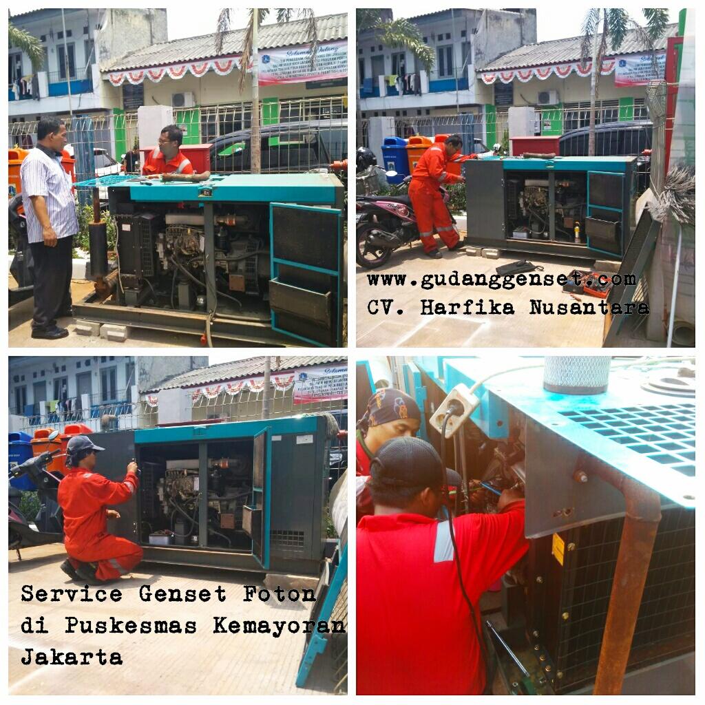 Service Genset di Puskesmas Kemayoran Jakarta - CV. Harfika Nusantara